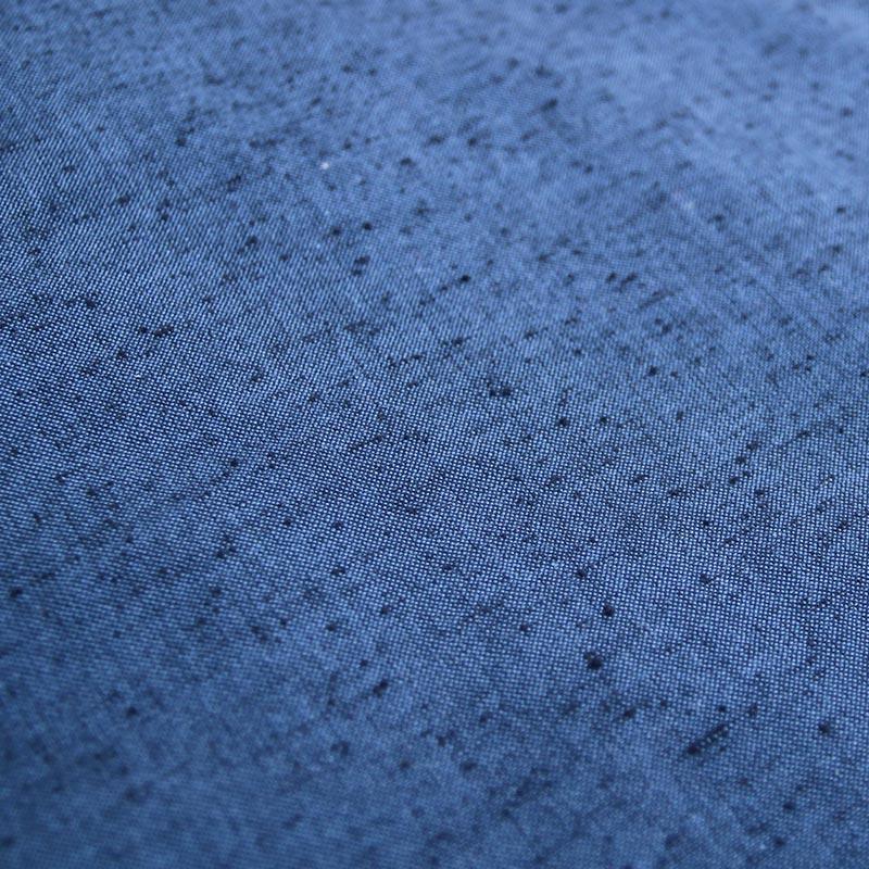 半纏 [パッチ風柄袢天] ブルー/エンジ ロング93cm丈