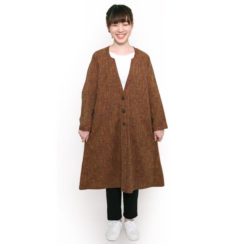 ロングジャケット [らしか uraura] 全3色 綿100%