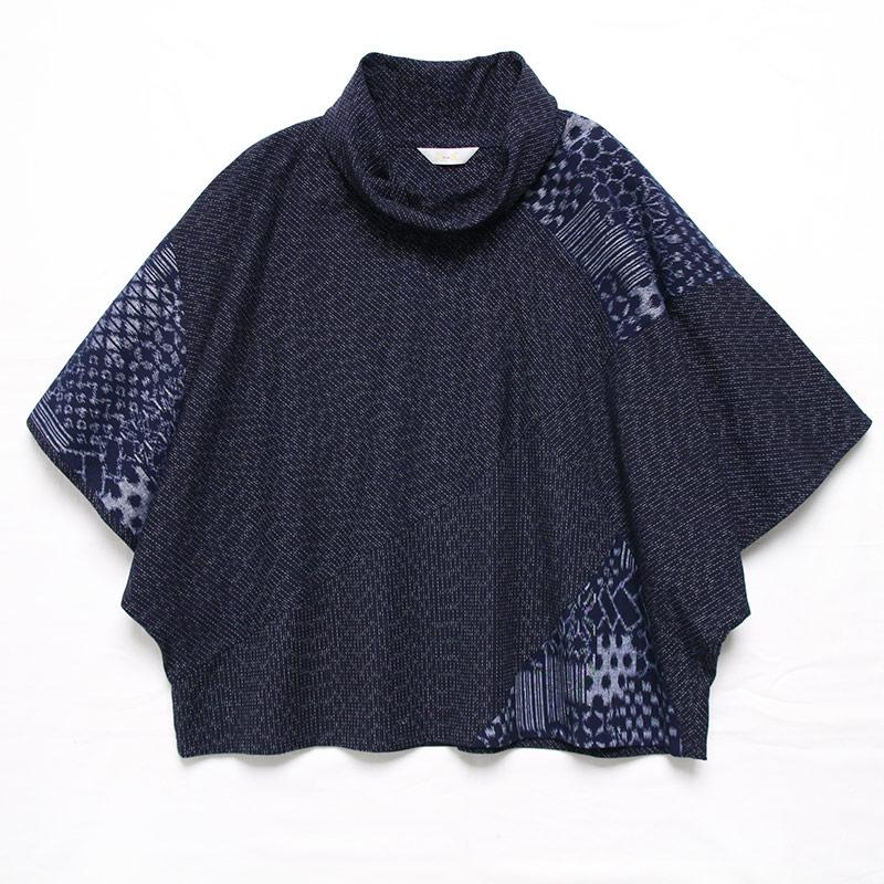ブラウス [彩藍 絣調バタフライ] 全4色 綿100%