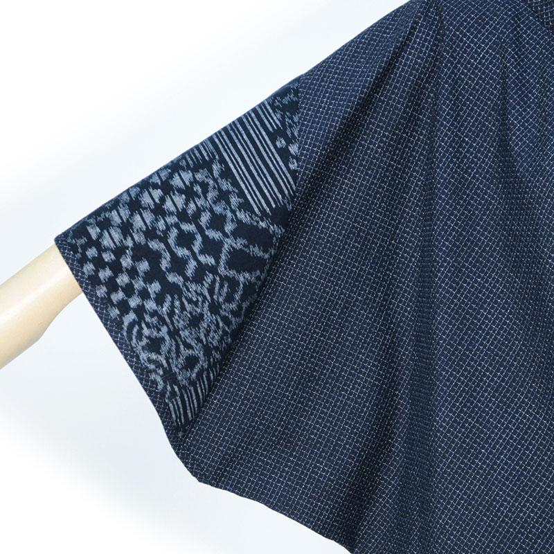 ブラウス [彩藍 絣調バタフライ] 全4色 綿100% ※通販「ハルメク」に掲載されました。
