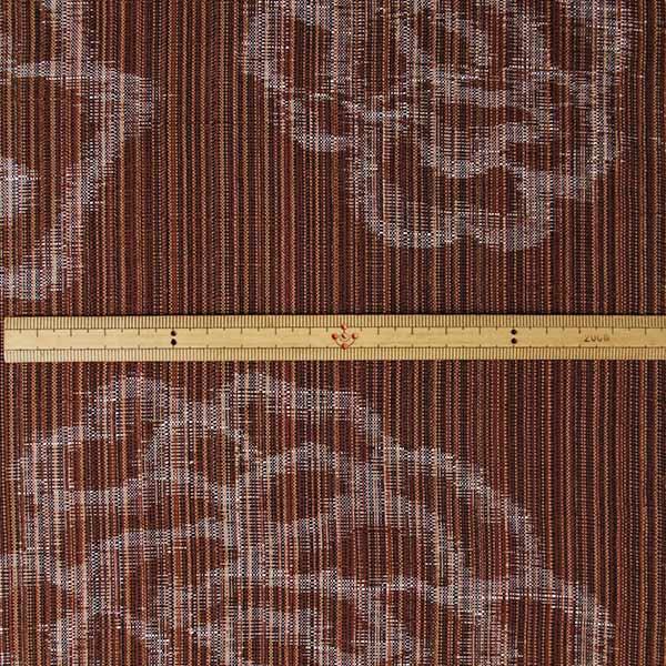 久留米絣反物 [絵絣 しじら/茶] 1メートル単位 切り売り【NG0033】