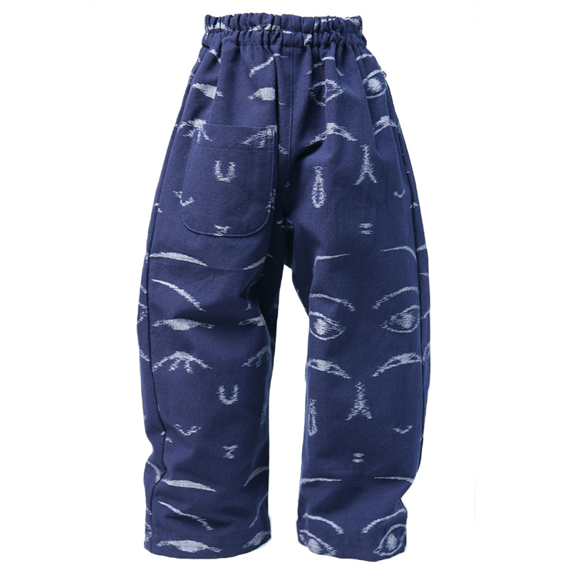 パンツ [こけし絣 こども用もんぺ] COMPANY×宮田織物 数量限定 総久留米絣
