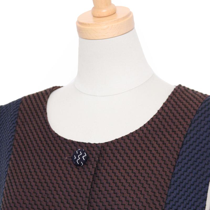 ベスト [彩藍 刺子花織] 全3色 綿100%