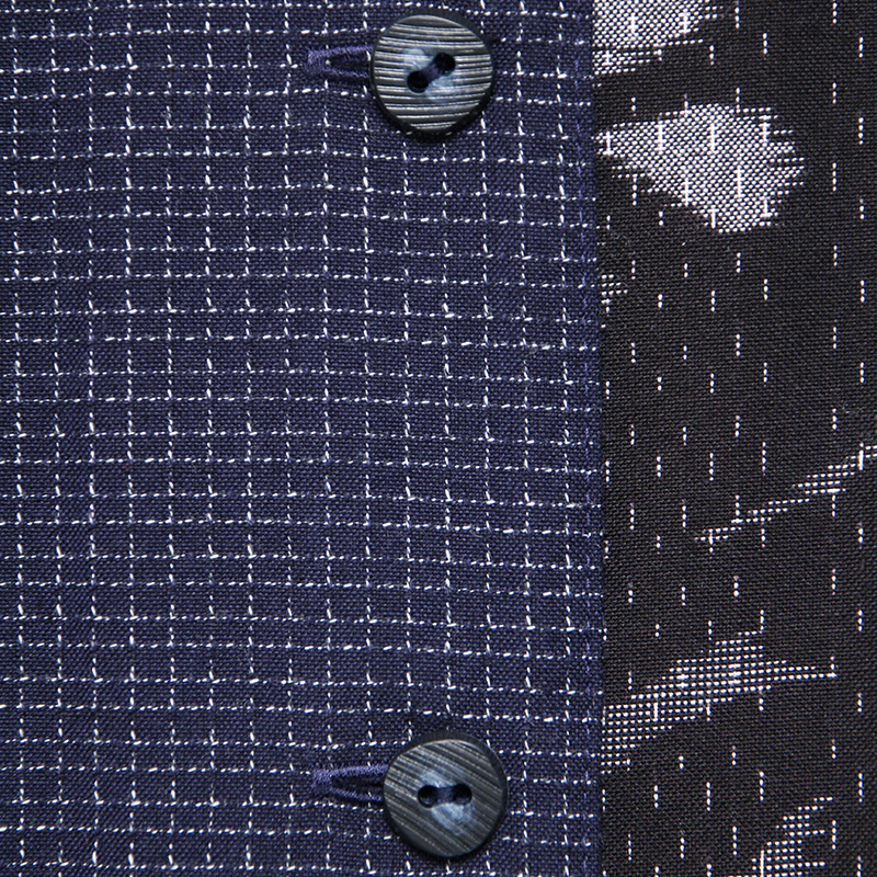 ブラウス [彩藍 斜めギャザー] 全4色 綿100% ※久留米絣の柄は、写真とは異なる場合があります