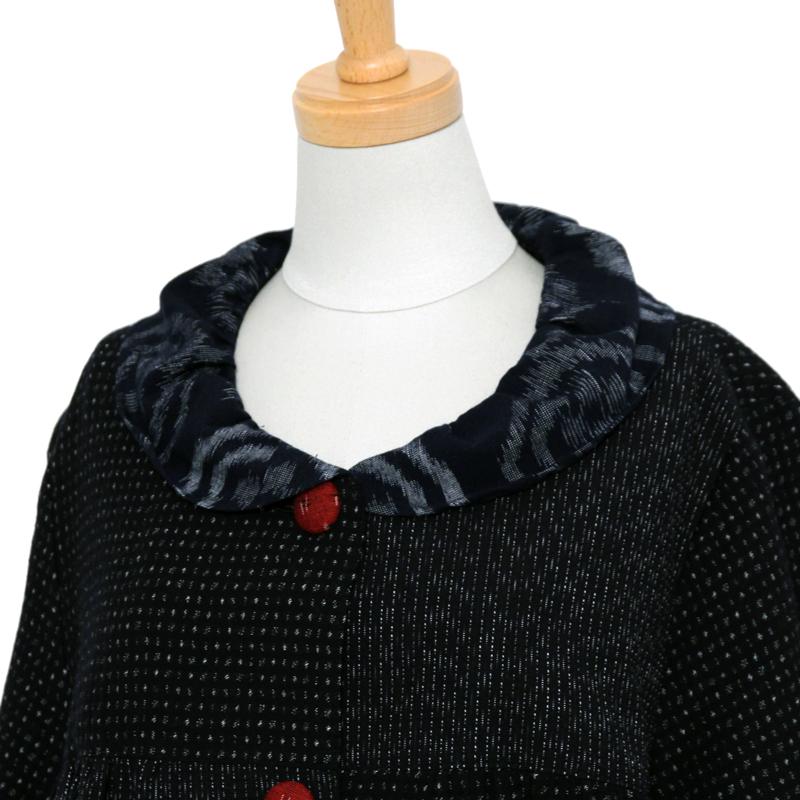 ジャケット [彩藍 文人調] 薄小絣調のみ 綿100%