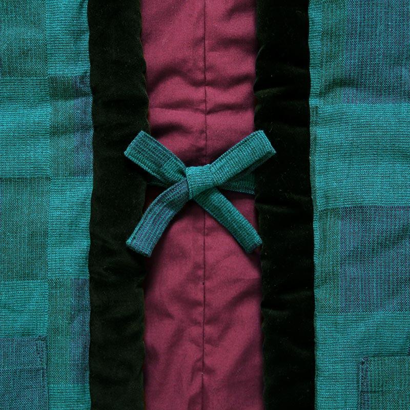 半袖半纏 [gekka(月華) やっこ] グリーン ※2020年新作 限定商品
