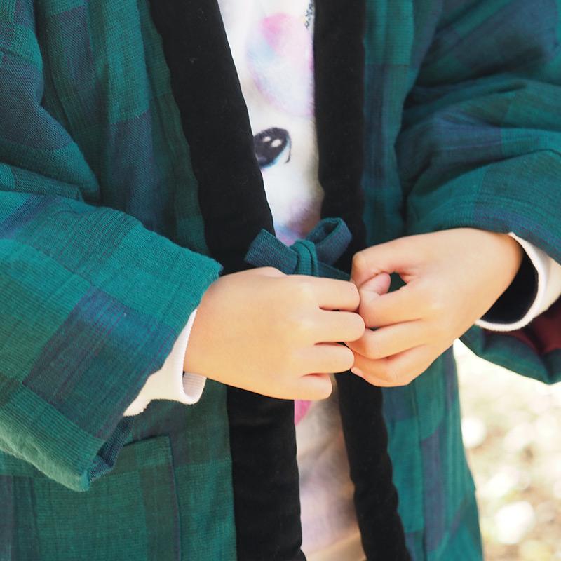 半纏 [gekka jr (月華)こども袢天] グリーン 120cmのみ ※2020年新作 限定商品