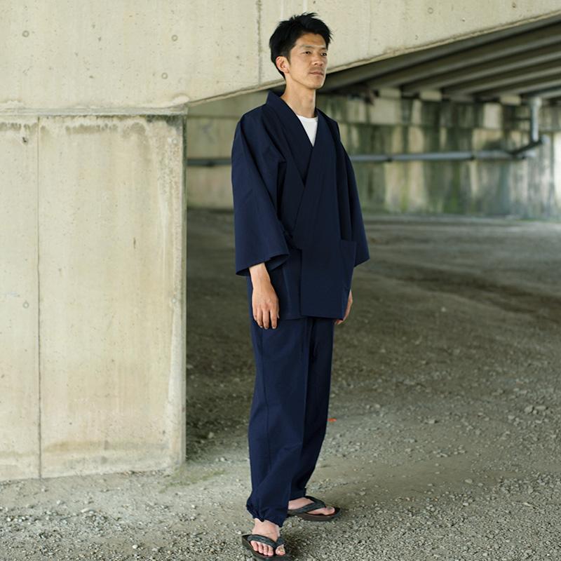 作務衣 [紬織り] 全5色 通年用 綿100% M/L/LL 当社一番人気作務衣 [TV] TBSテレビ「4分間のマリーゴールド」着用