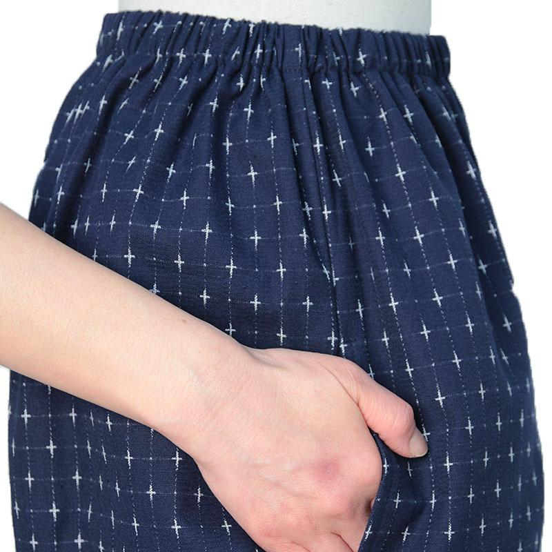 【在庫限り】作務衣 [十字織り] 紺白のみ 通年用 綿100% 女性用
