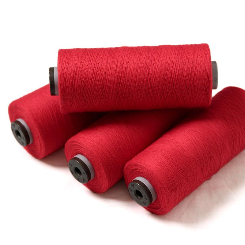 織り糸 [和木綿 赤] 少量セット 約500g入り(約4本程度)