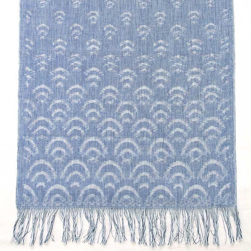 久留米絣ストール [彩藍 青海波] 全2色 綿100%