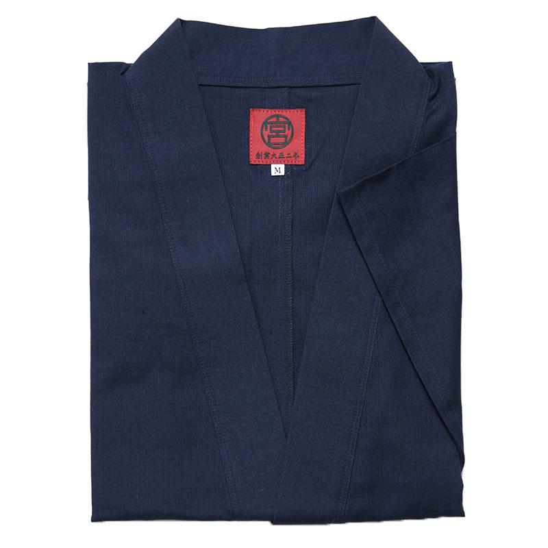 【新型】作務衣 [ちぢみ織り パンツ両サイドポケット仕立て] 全3色 夏向け 綿100% M/L/LL ※甚平素材を使用