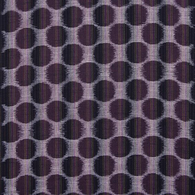 久留米絣反物 [絵絣 ドット柄/パープル] 1メートル単位 切り売り【SG0183】