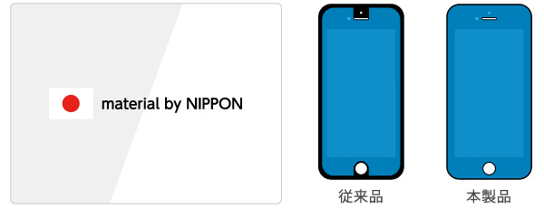 High Grade Glass Screen Protector for iPhone 6s/6(ブラックカーボン)