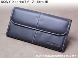 PDAIR レザーケース for Xperia (TM) Z Ultra SOL24/SGP412JP ビジネスタイプ