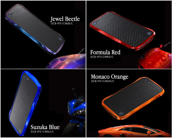 CLEAVE CRYSTAL BUMPER METALIC & CARBON EDITION for iPhone 5