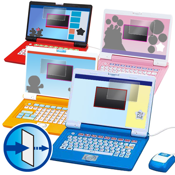 OverLay Eye Protector for ドラえもんステップアップパソコン/ マウスでクリック!アンパンマンパソコン / ディズニー ワンダフルスイートパソコン / ワンダフルドリームパソコン / アンパンマン★カラーパソコンスマート