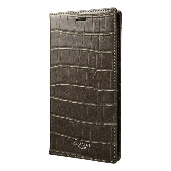 """GRAMAS COLORS """"EURO Passione Croco"""" Book PU Leather Case CLC-60337 for iPhone X"""