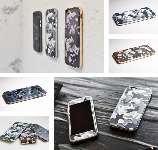 Hybrid Case UNIO PU Leather Camouflage for iPhone 6s/6