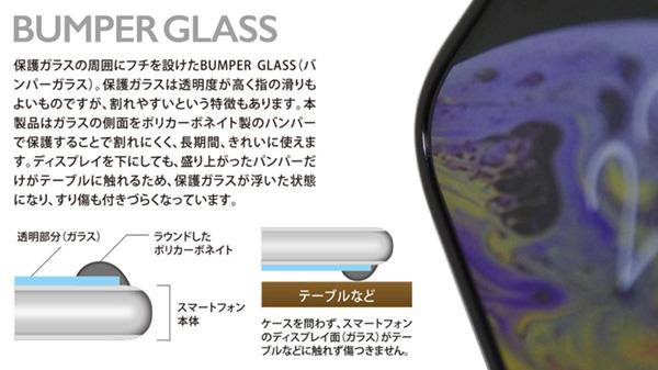 Deff BUMPER GLASS ブルーライトカット for iPhone XS Max