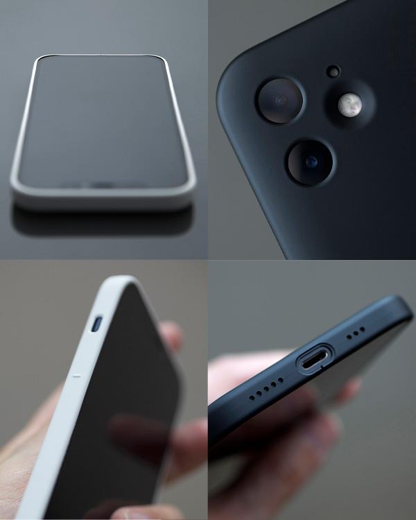 MYNUS(マイナス)のシンプルでミニマルな iPhone 12 用 ケース(マットブラック/マットホワイト/サンドグレー)