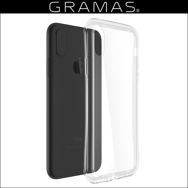 GRAMAS COLORS Glass Hybrid Clear Case for iPhone X