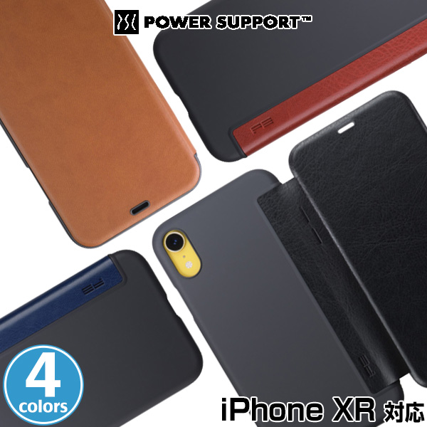 iPhone XR 用 Air jacket Flip for iPhone XR 「iPhone XR」に対応した薄型PUレザーケース