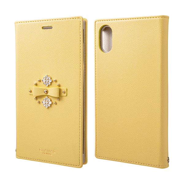 """GRAMAS FEMME """"Sweet"""" PU Leather Book Case FLC-62518 for iPhone XR"""