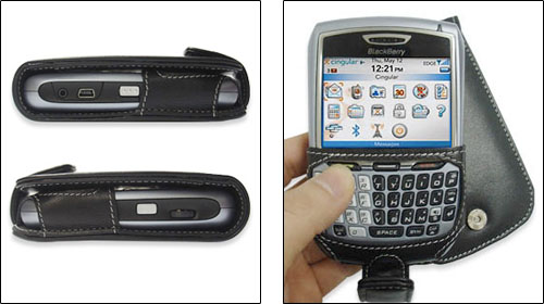 PDAIR レザーケース for BlackBerry 8707h 縦開きタイプ