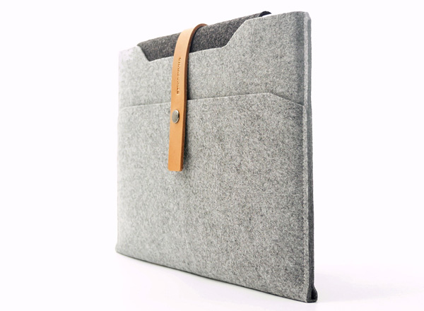Charbonize レザー & フェルト ケース for MacBook Air 13インチ(Early 2015/Early 2014/Mid 2012/Mid 2011/Late 2010)(スリーブタイプ)