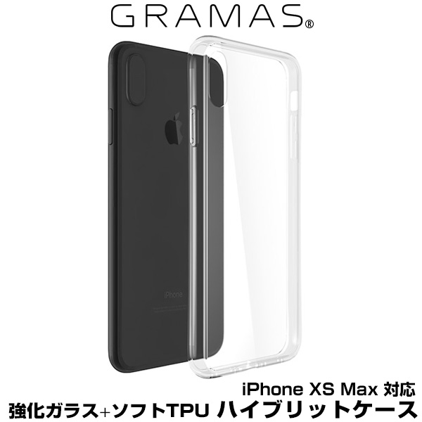 """GRAMAS COLORS """"Glass Hybrid"""" Shell Case for iPhone for iPhone XS MAX"""