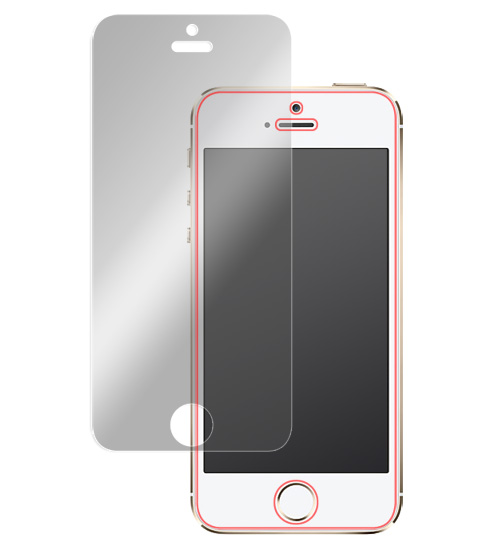 OverLay Eye Protector for iPhone SE / 5s / 5c / 5 表面用保護シート
