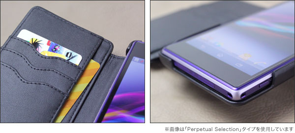 Noreve Exceptional Couture Selection レザーケース for Xperia (TM) Z1 SO-01F/SOL23 横開きタイプ(背面スタンド機能付)