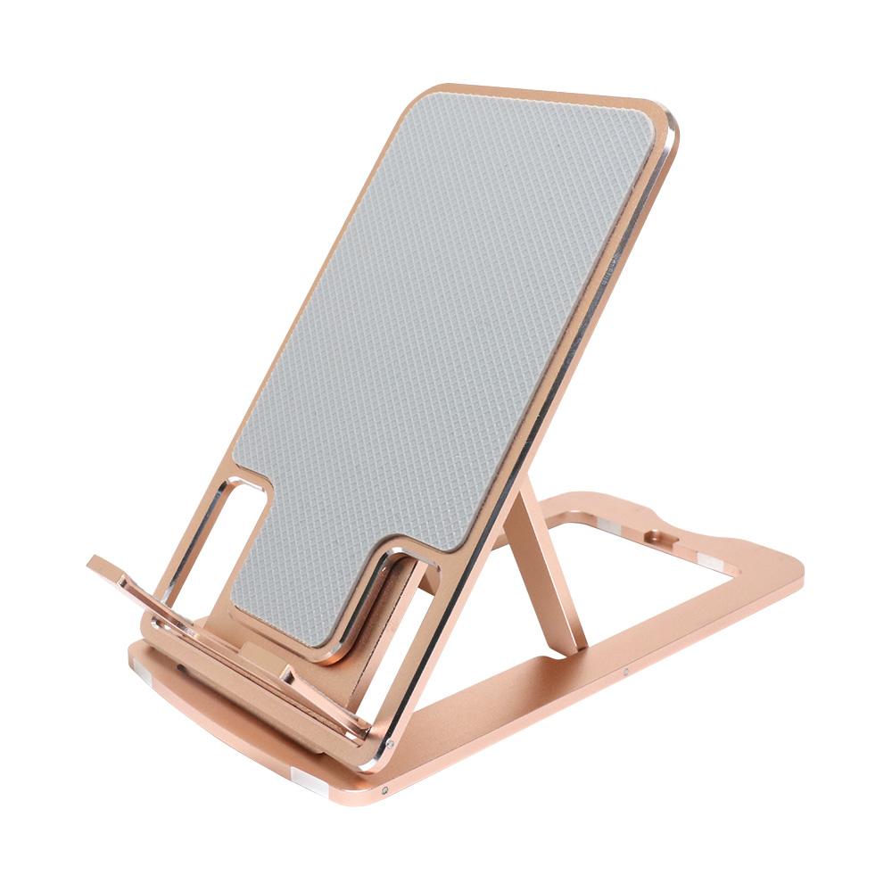 ミヨシ 折りたたみスマホ/タブレットスタンド スリム 12インチまでのタブレット・スマートフォン対応 超薄型 7mm アルミスタンド 角度7段階調整 高さ調節可能