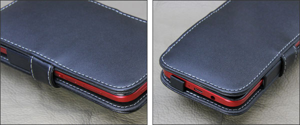 PDAIR レザーケース for HTC J butterfly HTL23 横開きタイプ
