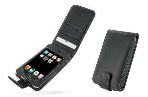 PDAIR レザーケース for iPod touch(Late 2009 8GB/2nd gen.) 縦開きタイプ