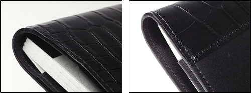 トランプ(A7ノート)専用革カバー タロン・セレブ(クロコダイル柄タイプ)