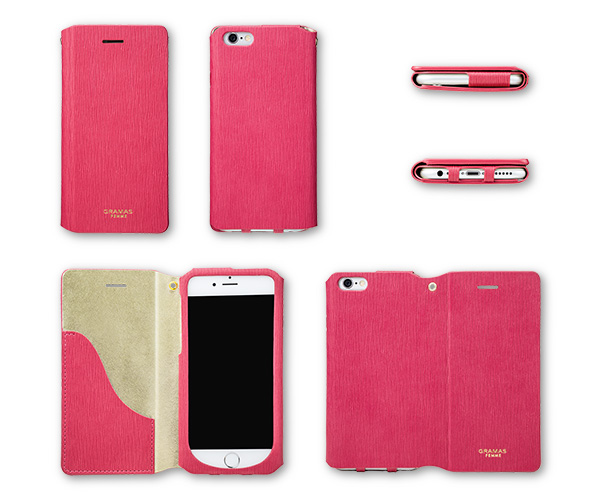 """GRAMAS FEMME """"Colo"""" FLC2126 Flap Leather Case for iPhone 6s / 6"""