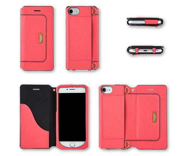 """GRAMAS FEMME """"Sac"""" Bag Type Leather Case FLC286 for iPhone 8 / iPhone 7"""