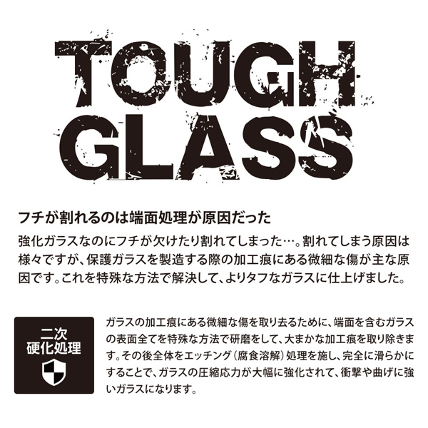 Deff TOUGH GLASS Dragontrail フチあり透明タイプ for iPhone XS Max(ブラック)