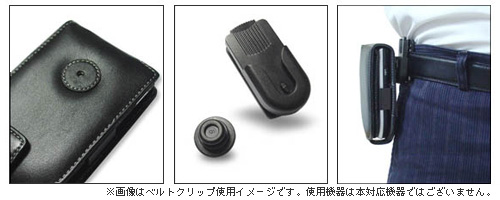 PDAIR レザーケース for BlackBerry Curve 9300 縦開きタイプ