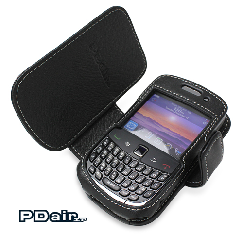 PDAIR レザーケース for BlackBerry Curve 9300 横開きタイプ