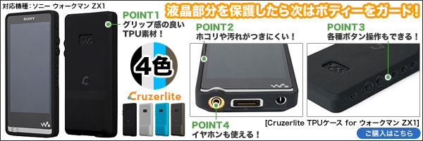 OverLay Glass for ウォークマン ウォークマン ZX2/ZX1/NW-F880シリーズ(0.2mm)