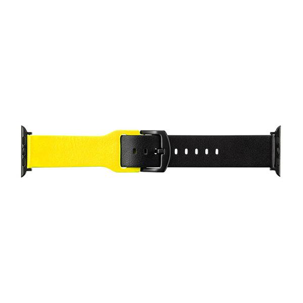 """Apple Watch(40/38mm) イタリアンレザーバンド GRAMAS """"NEON"""" Watchband for Apple Watch (40/38mm) GWBNE-AW02 アップルウォッチ40/38mm対応 ネオンカラー グラマス"""