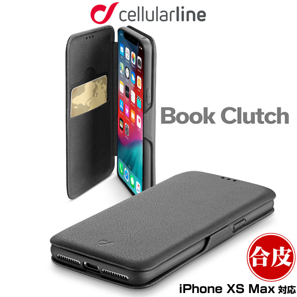 cellularline Book Clutch 手帳型ケース for iPhone XS Max