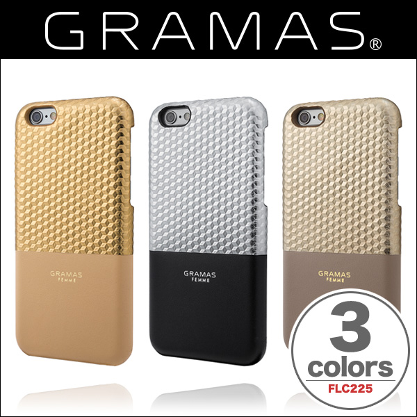 """GRAMAS FEMME Back Leather Case """"Hex"""" FLC225 for iPhone 6s/6"""