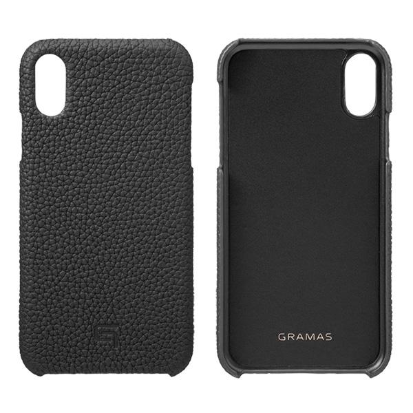 GRAMAS Shrunken-Calf Leather Shell Case GSC-72558 for iPhone XR