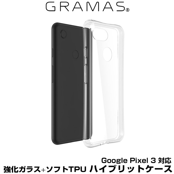 """GRAMAS COLORS """"Glass Hybrid"""" Shell Case for Google Pixel 3 (Clear) ケース グラマス グーグル ピクセル"""