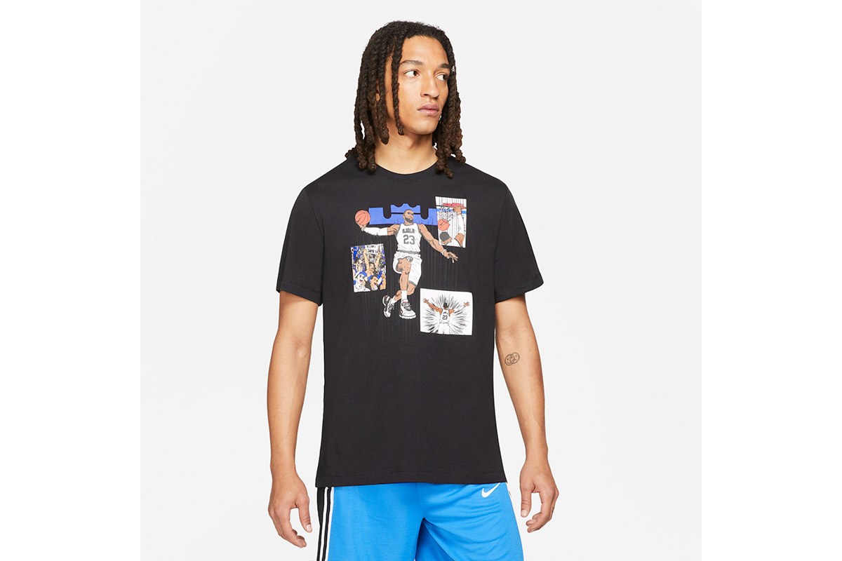 ナイキ NIKE レブロンシーズナルロゴTシャツ(ブラック)【DD0789-010】