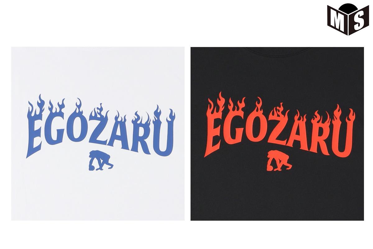 【2色展開】エゴザル EGOZARU FLAME SLEEVEロングTシャツ【EZLT-F2113】